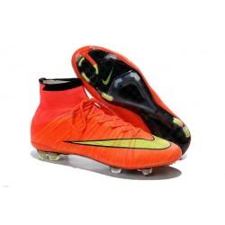Crampon De Foot 2014 Nouvelle Nike Mercurial Superfly FG ACC Punch Or Noir