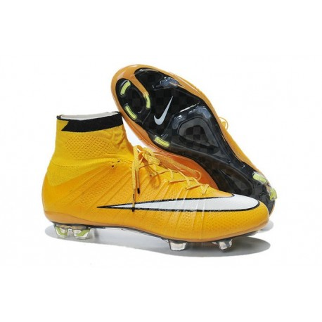 Crampon De Foot 2014 Nouvelle Nike Mercurial Superfly FG ACC Orange Blanc Noir