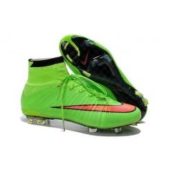 Crampon De Foot 2014 Nouvelle Nike Mercurial Superfly FG ACC Vert Punch