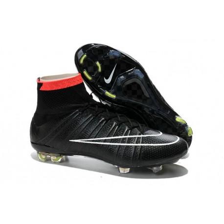 Crampon De Foot 2014 Nouvelle Nike Mercurial Superfly FG ACC Noir Punch