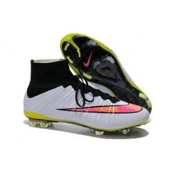 Crampon De Foot 2014 Nouvelle Nike Mercurial Superfly FG ACC Blanc Punch Noir