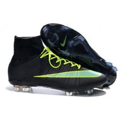 Neuf Chaussures 2015 Nike Mercurial Superfly 4 FG Noir Vert