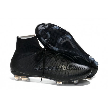 Neuf Chaussures 2015 Nike Mercurial Superfly 4 FG Tout Noir