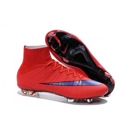 Chaussure de Football Nouvel 2015 Nike Mercurial Superfly FG ACC Rouge Vif Violet Persan Noir