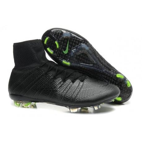 Chaussure de Football Nouvel 2015 Nike Mercurial Superfly FG ACC Noir Volt