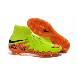 Chaussures de Football 2015 Neymar Nike Hypervenom II FG Jaune Orange Noir