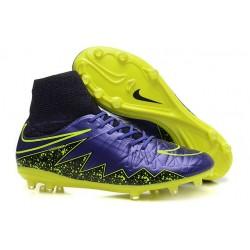 Chaussures Foot Nouvelle 2015 Neymar Nike Hypervenom II FG ACC Violet Volt Noir