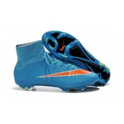 Chaussure de Football Nouvel 2015 Nike Mercurial Superfly FG ACC Bleu Orange
