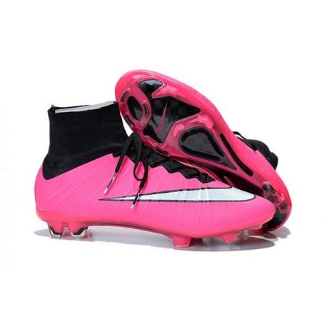 Nouveau Crampons 2015 Nike Mercurial Superfly FG ACC Rose Blanc Noir