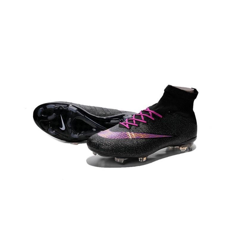 best loved 005e6 06fe1 Nouveau Crampons 2015 Nike Mercurial Superfly FG ACC Noir Violet Zoom.  Précédent · Suivant