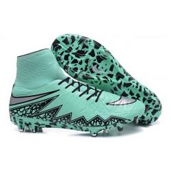 Chaussures de Football 2015 Neymar Nike Hypervenom II FG Vert Noir Argent
