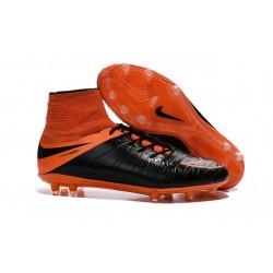 Crampon de Foot 2015 Nouvelle Nike Hypervenom Phantom II FG Noir Orange