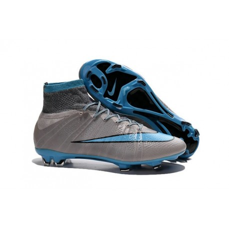 Nike Chaussures Nouvelle Mercurial Superfly FG Homme Gris Bleu