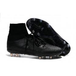 Crampon de Foot 2015 Nouvelle Nike Hypervenom Phantom II FG Ref Tout Noir
