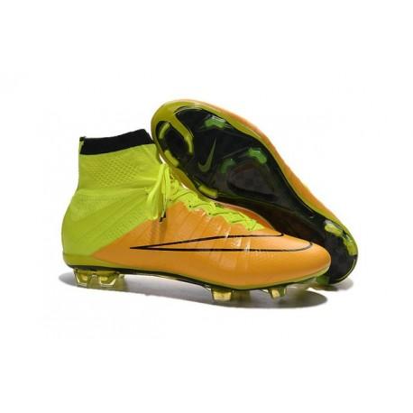 Nike Chaussures Nouvelle Mercurial Superfly FG Homme Jaune Noir