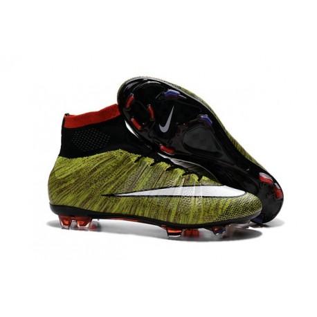 Nike Chaussures Nouvelle Mercurial Superfly FG Homme Jaune Blanc Noir