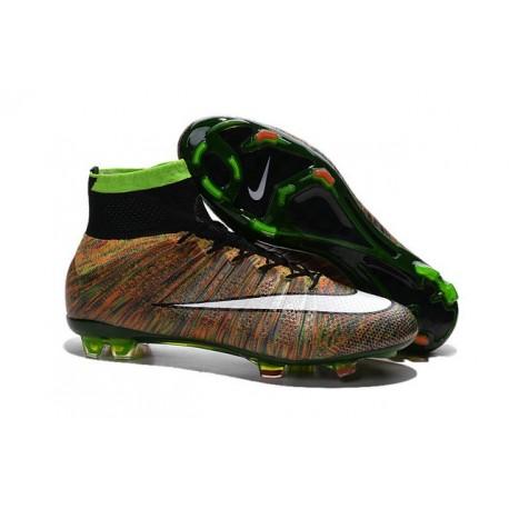 Crampons Nouveaux Football Nike Mercurial Superfly 4 FG Multi-Color Blanc Noir