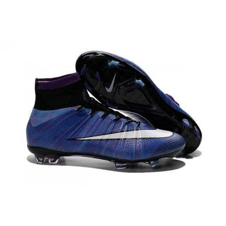 Crampons Nouveaux Football Nike Mercurial Superfly 4 FG Violet Blanc Noir