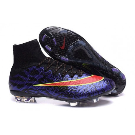 Crampons Nouveaux Football Nike Mercurial Superfly 4 FG Violet Rouge