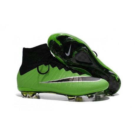 Crampons Nouveaux Football Nike Mercurial Superfly 4 FG Vert Noir