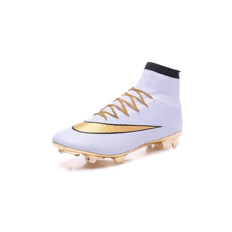 cristiano ronaldo chaussure nike mercurial superfly iv fg blanc or zoom. précédent. suivant