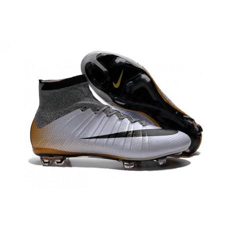 Cristiano Ronaldo Chaussure Nike Mercurial Superfly Iv FG Argent Noir Orange
