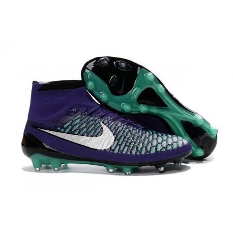 Crampons de Foot Neuf 2016 Nike Magista Obra FG Violet Blanc Vert