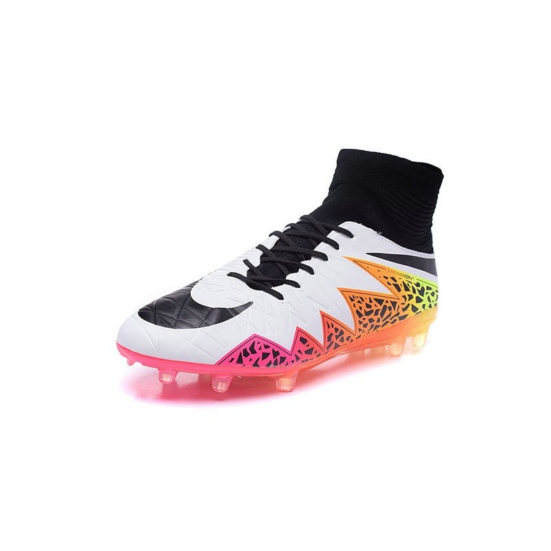 crampon de foot 2016 nouvelle nike hypervenom phantom ii fg blanc rose noir. Black Bedroom Furniture Sets. Home Design Ideas