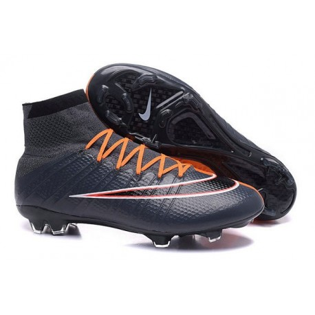 Cristiano Ronaldo Chaussure Nike Mercurial Superfly Iv FG Noir Orange