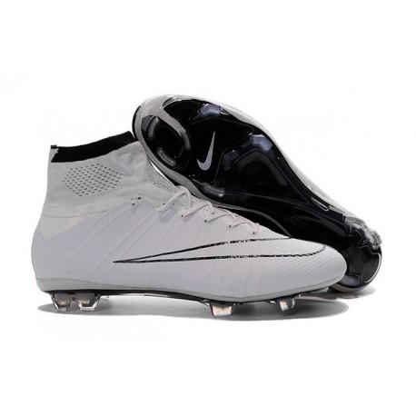 Cristiano Ronaldo Chaussure Nike Mercurial Superfly Iv FG Blanc Noir