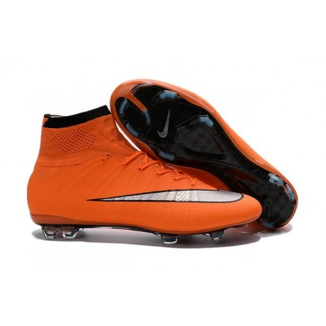 Cristiano Ronaldo Chaussure Nike Mercurial Superfly Iv FG Orange Argent