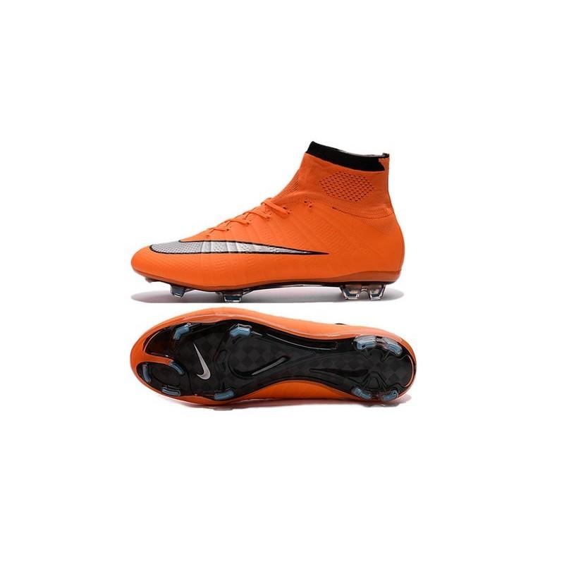 check out 8bda7 1ec70 Cristiano Ronaldo Chaussure Nike Mercurial Superfly Iv FG Orange Argent  Zoom. Précédent · Suivant