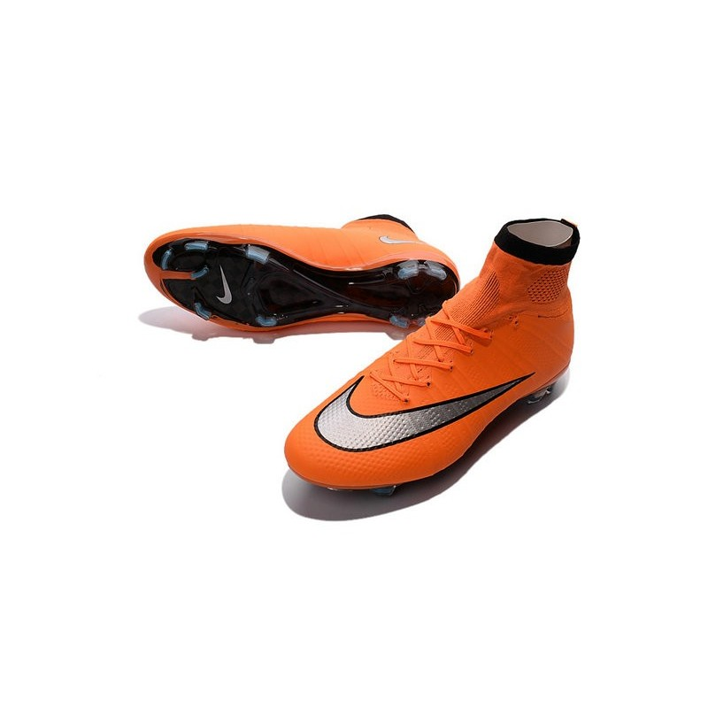 online retailer 2c40e 04f4a Cristiano Ronaldo Chaussure Nike Mercurial Superfly Iv FG Orange Argent