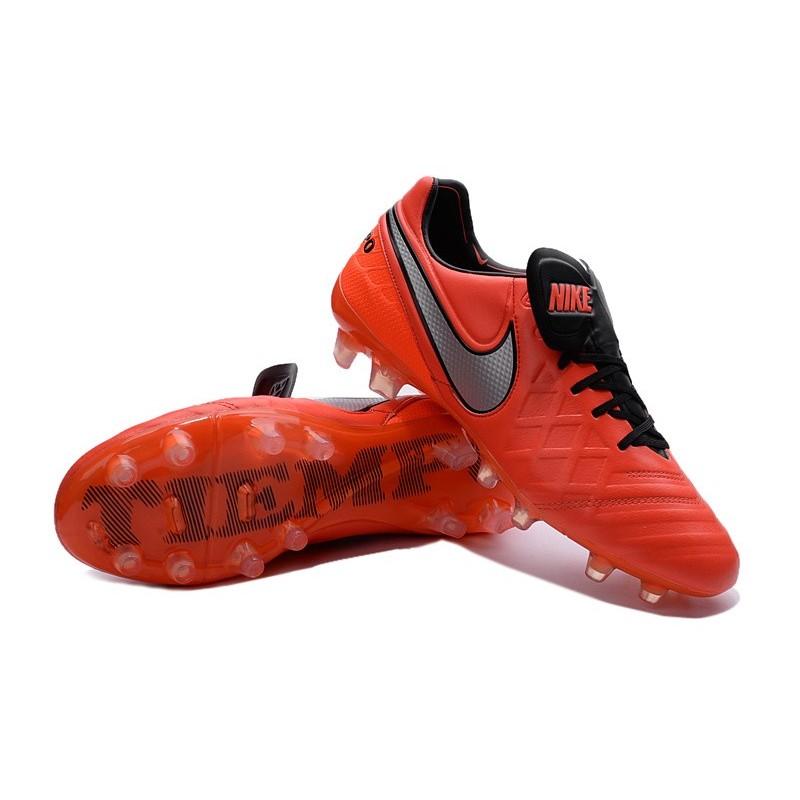 reputable site 5abc7 51157 Crampons de Foot 2016 Nike Tiempo Legend VI FG Homme Orange Blanc Zoom.  Précédent · Suivant