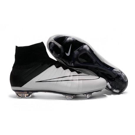 Nouvelles 2016 Crampon Nike Mercurial Superfly FG Cuir Noir Blanc