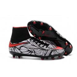 Nouveaux Chaussure Nike Hypervenom Phantom 2 FG Noir Blanc Rouge