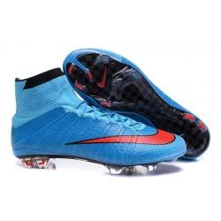 Nouvelles 2016 Crampon Nike Mercurial Superfly FG Bleu Rouge