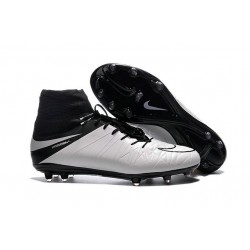 Nouveaux Chaussure Nike Hypervenom Phantom 2 FG Cuir Blanc Noir