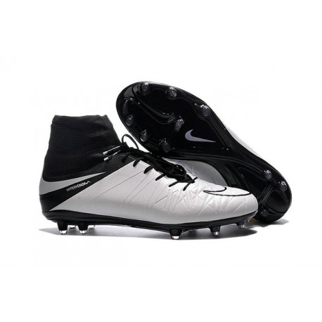 hot sale online 5b058 0603a Nouveaux Chaussure Nike Hypervenom Phantom 2 FG Cuir Blanc N