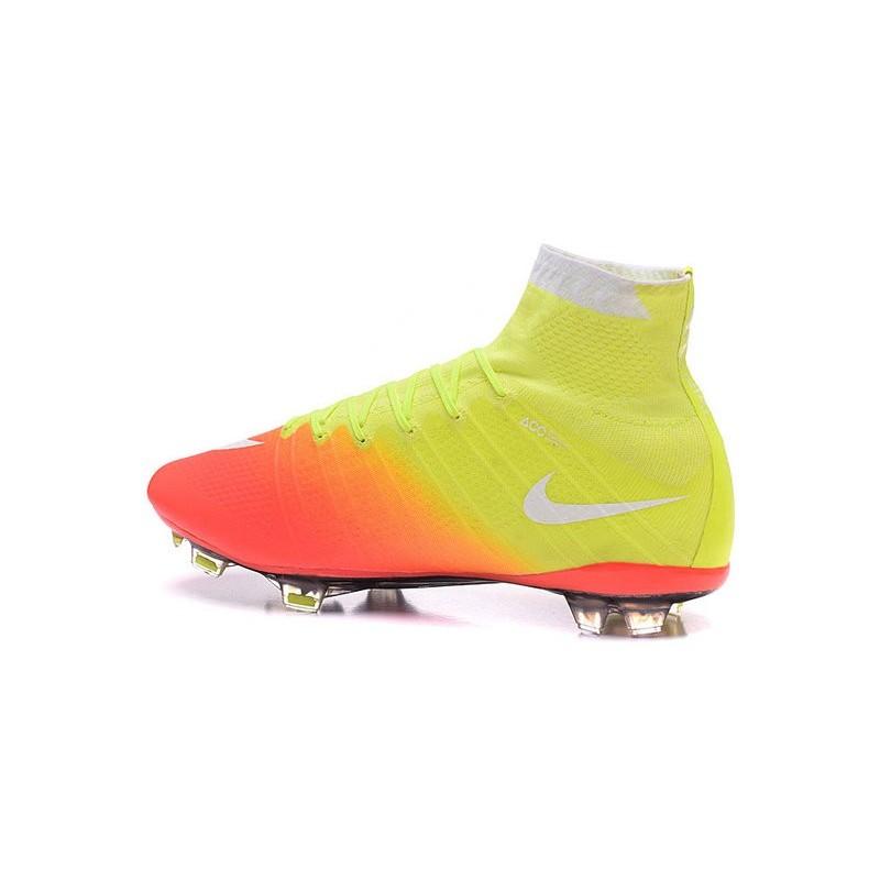 f8ffb0db2 Chaussure Football Nouveaux Nike Mercurial Superfly FG ACC Orange Jaune  Blanc Zoom. Précédent · Suivant