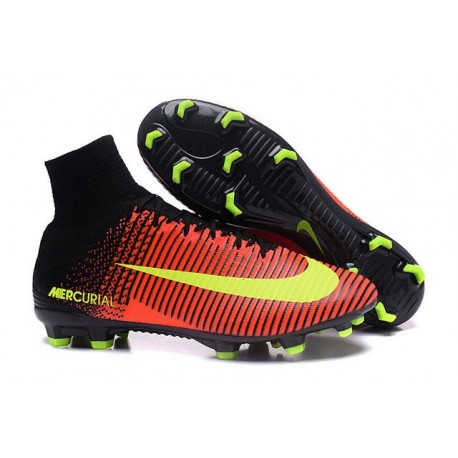 767c3caf4ff Chaussure Football Nouveaux Nike Mercurial Superfly V FG Carmin  Volt  Rose