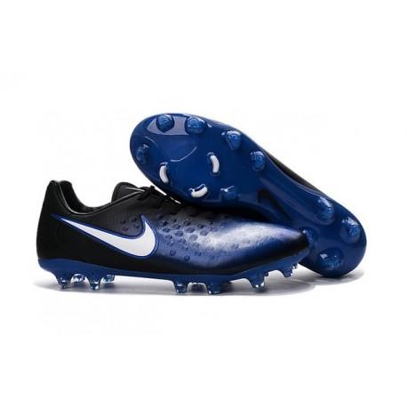Chaussures Football Nouvelles 2016 Nike Magista Opus II FG Bleu Noir Blanc