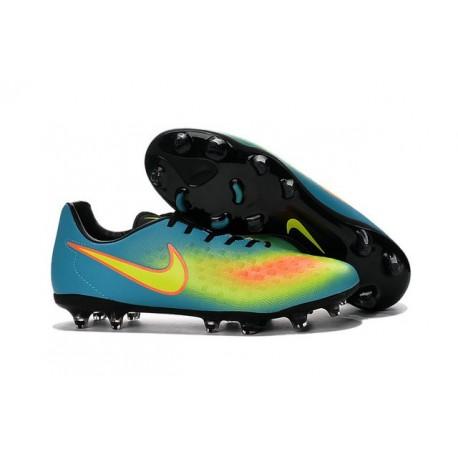 Chaussures Football Nouvelles 2016 Nike Magista Opus II FG Bleu Jaune Noir