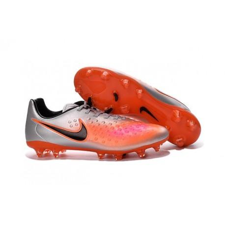 premium selection e44af a9130 Chaussures Football Nouvelles 2016 Nike Magista Opus II FG Argent Orange  Noir