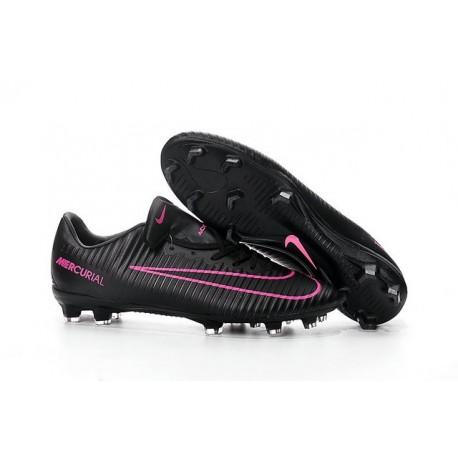 Chaussure de Foot Nouveau 2016 Nike Mercurial Vapor XI FG Noir Rose