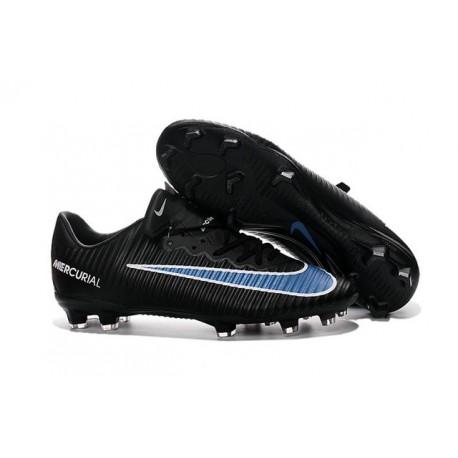 Chaussure de Foot Nouveau 2016 Nike Mercurial Vapor XI FG Noir Bleu