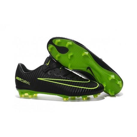 Chaussure de Foot Nouveau 2016 Nike Mercurial Vapor XI FG Noir Vert