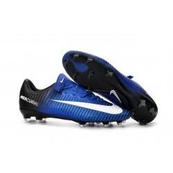 Nike Crampon Football Mercurial Vapor 11 FG ACC Noir Bleu Blanc