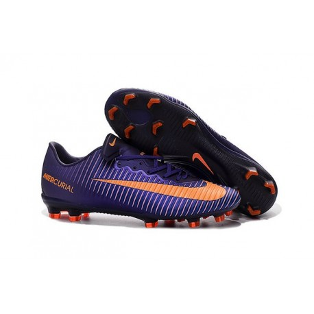 best sneakers a4f04 a6a87 Nike Crampon Football Mercurial Vapor 11 FG ACC Violet Orang