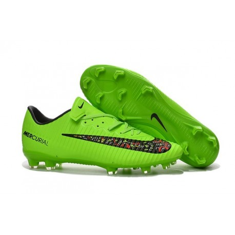 Nike Crampon Football Mercurial Vapor 11 FG ACC Vert Noir